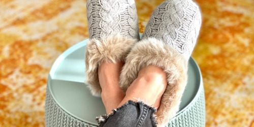 These Dearfoams Slippers are Cozy, Giftable, & Only $12.75 on Kohls.com (Regularly $34!)