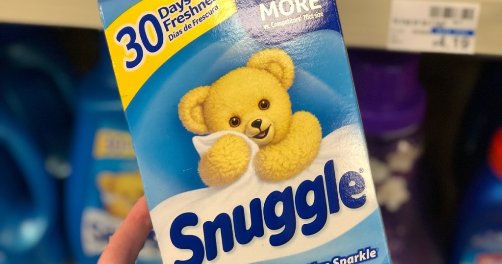 snuggle sheets in hand in store