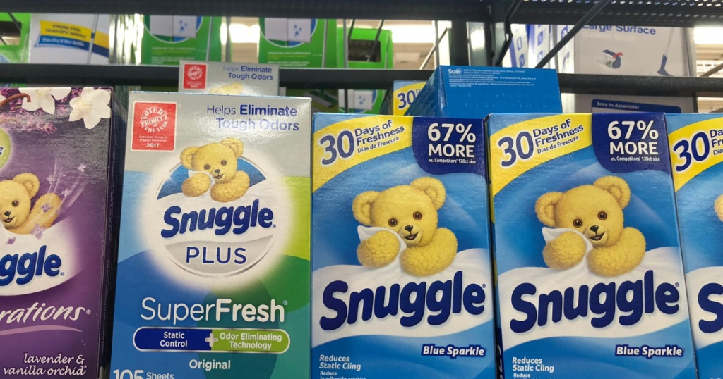 snuggle products on shelf in store