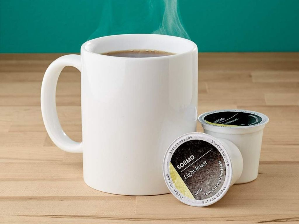 coffee cup and coffee pods