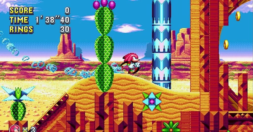 screen shot of sonic mania video game