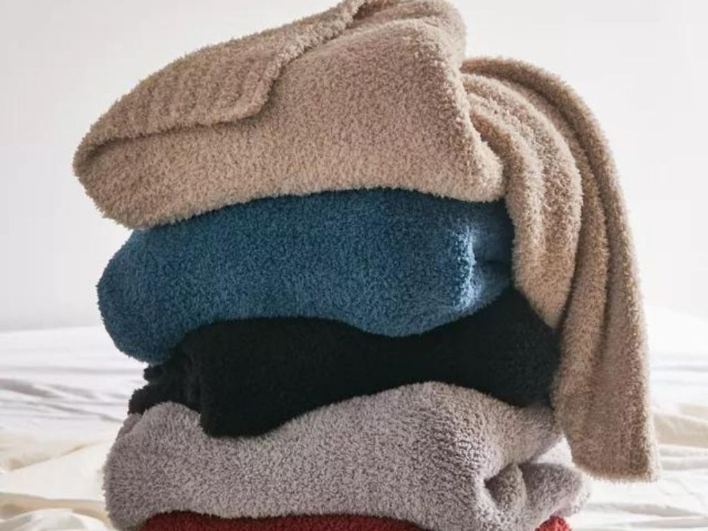 colorful soft blankets