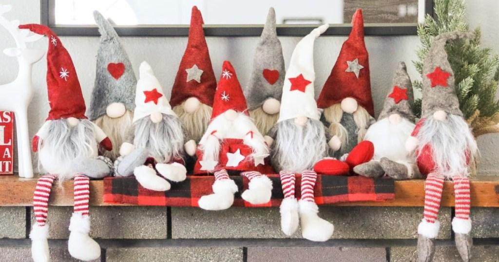 swedish gnome dolls on shelf
