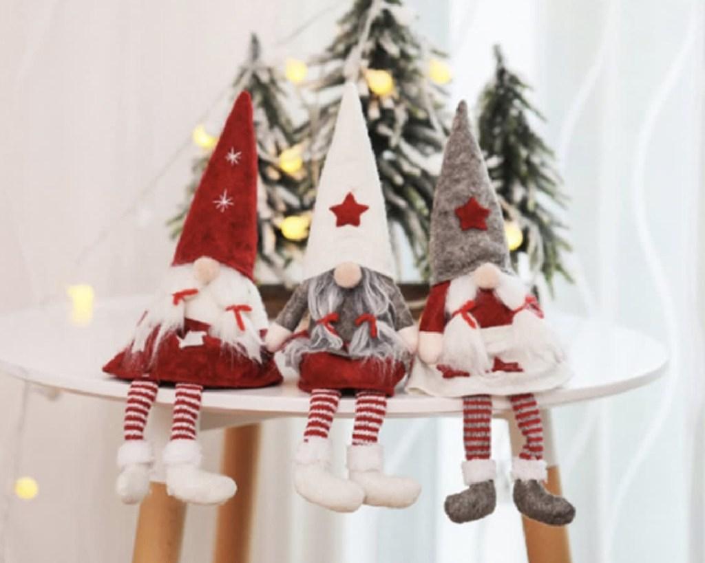 swedish gnome girl dolls on table