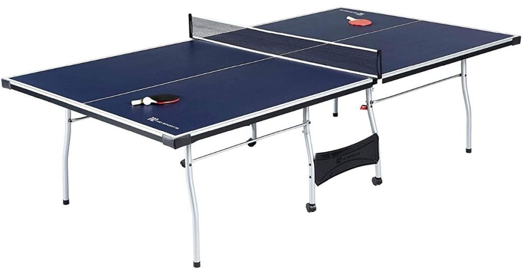 blue and white table tennis