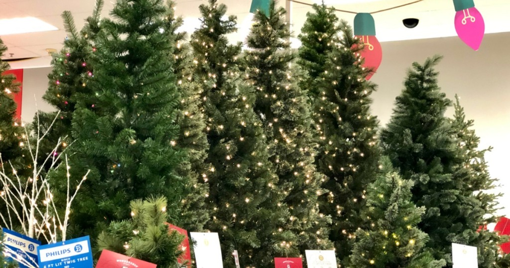 Chistmas Trees on display in store