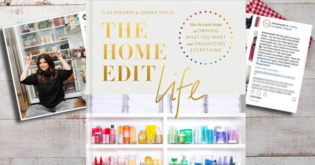 the home edit book on display