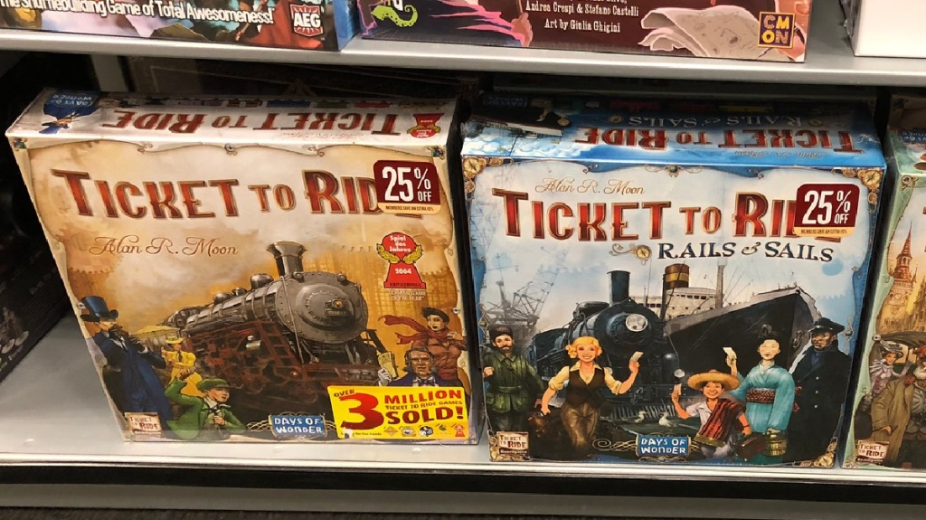 ticket to ride board games