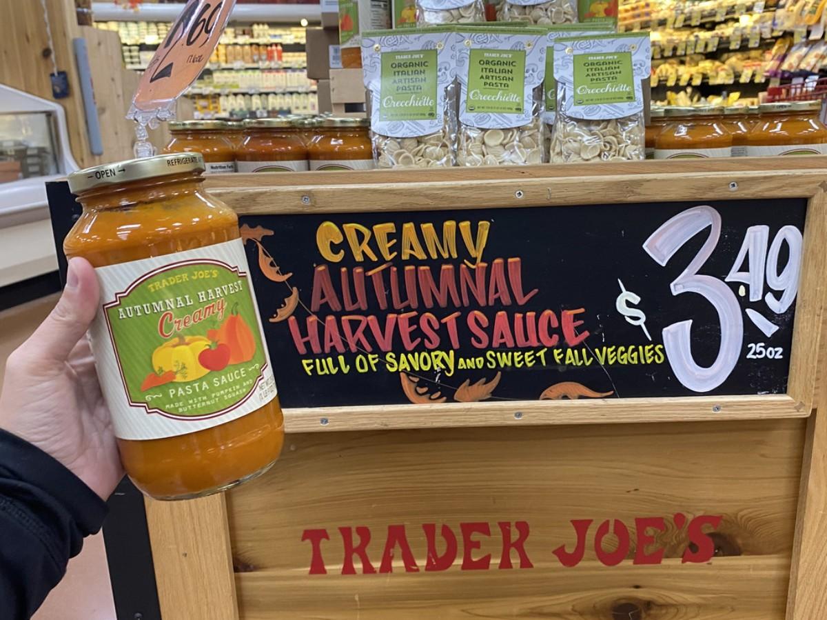 best Trader Joe's Thanksgiving foods - Trader Joe's Creamy Pasta Sauce
