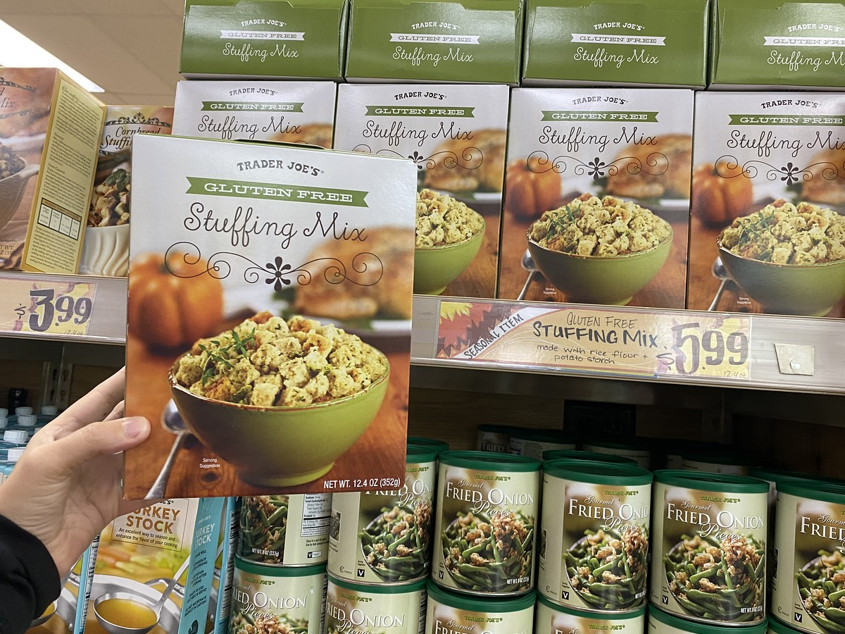 best Trader Joe's Thanksgiving foods - Trader Joe's gluten free stuffing mix