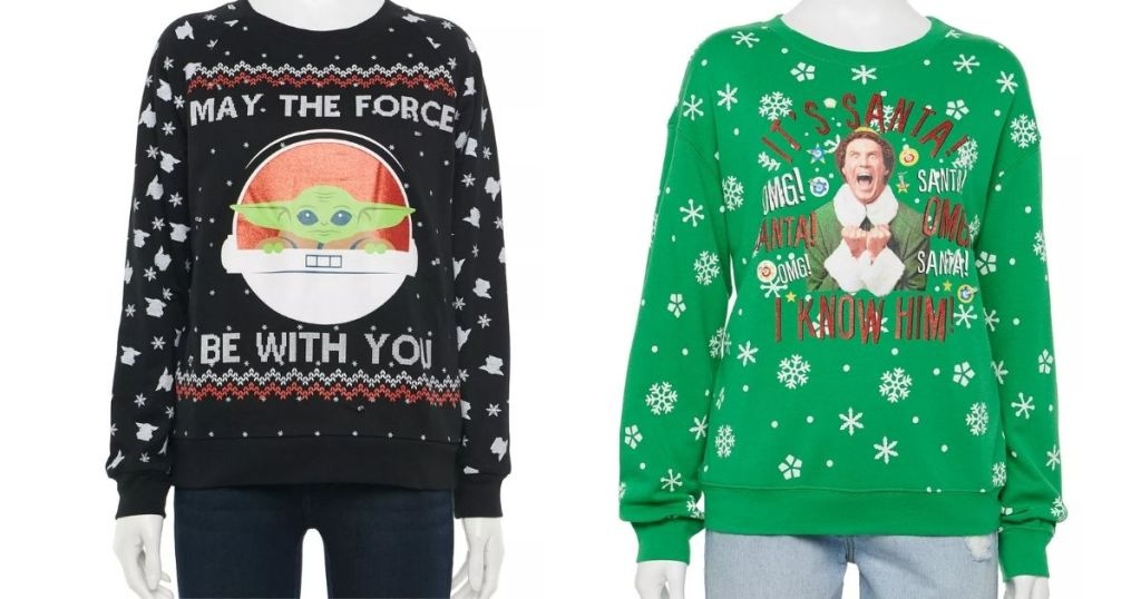 The Child and Elf Christmas sweaters