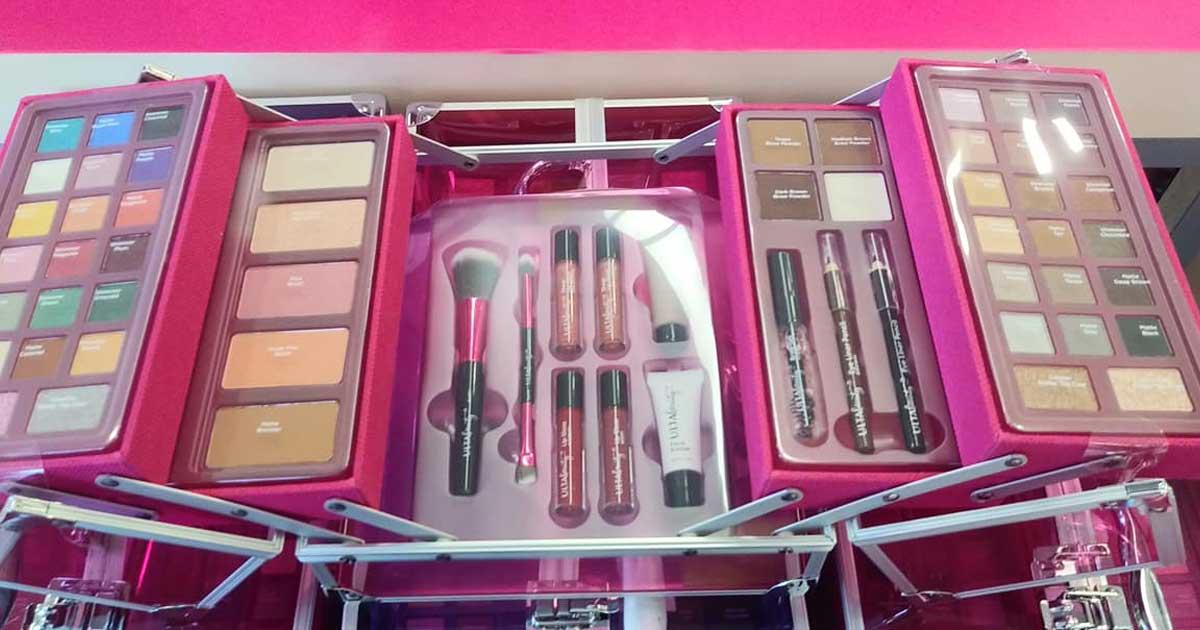 ULTA Beauty box with cosmetics in it