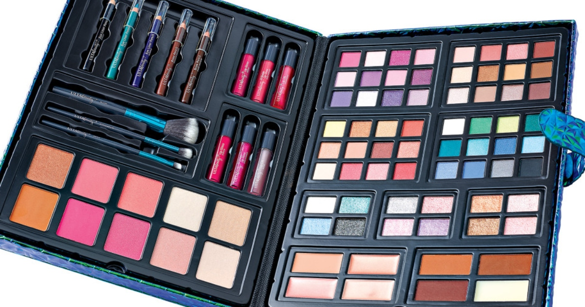 Ulta beauty box Prism edition open with all of the makeup items in different colors