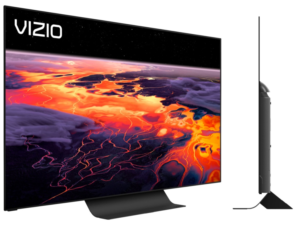 vizio OLED smart tv front and side angle