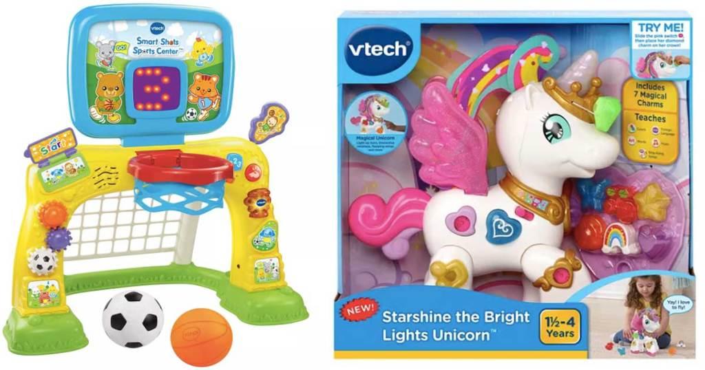 vtech sports center and vtech bright lights unicorn