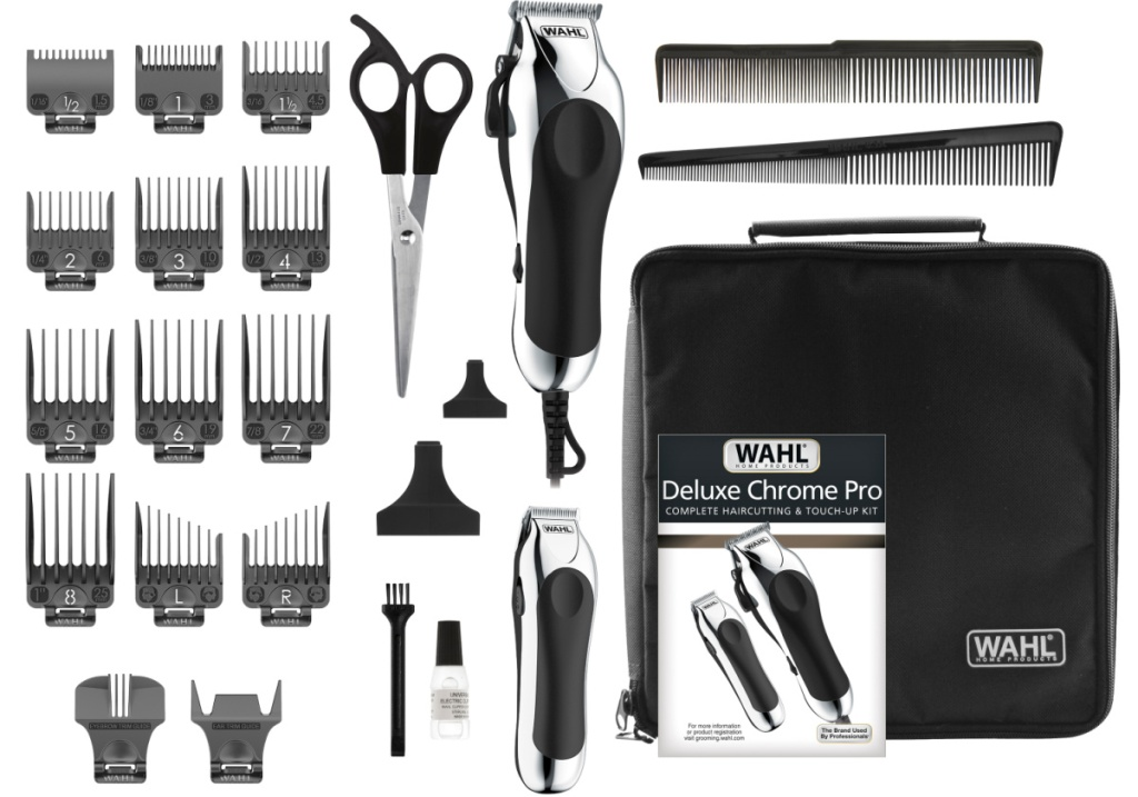 wahl hair clippers with all accessories