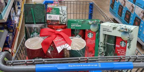 New Starbucks Holiday Gift Sets & Drink Mixes from $2 at Walmart
