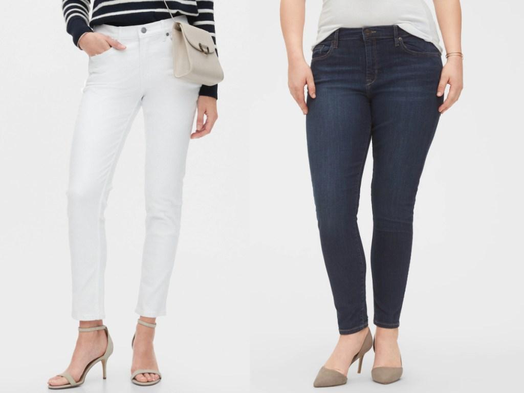 women wearing jeans from banana republic