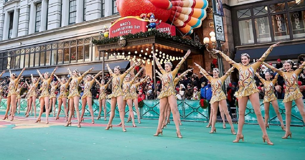Rockettes in Macy's Thanksgiving Parade