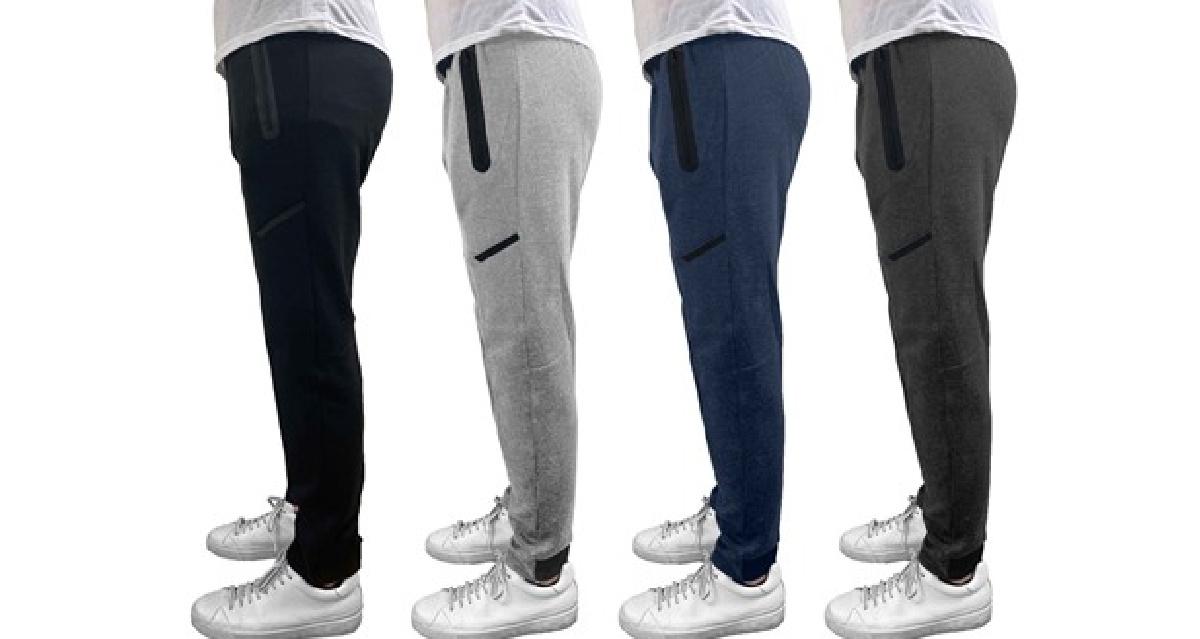 3-Pack Men's Heavyweight Fleece Lined Sweatpants