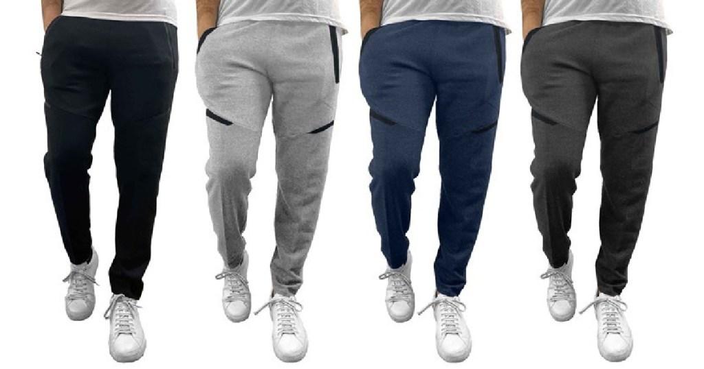3 Pack Men's Heavyweight Fleece Lined Sweatpants