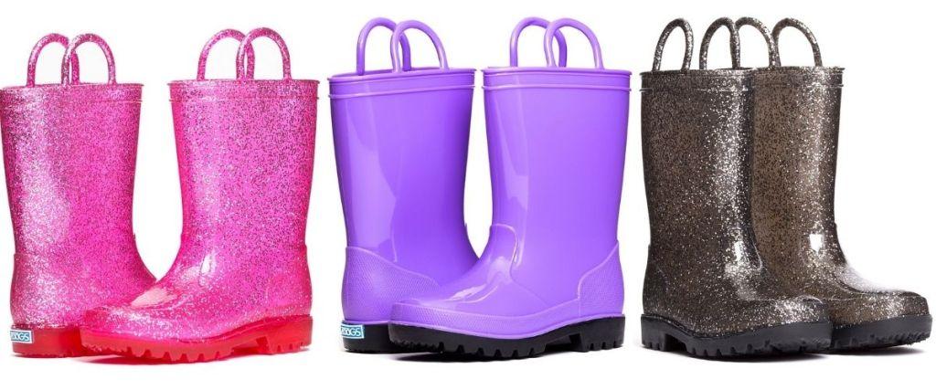 3 Pair Zoogs Rain Boots
