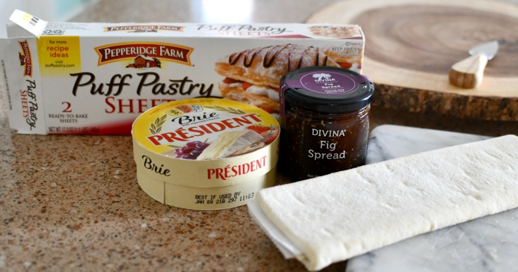 3 ingredients to make puff pastry baked brie