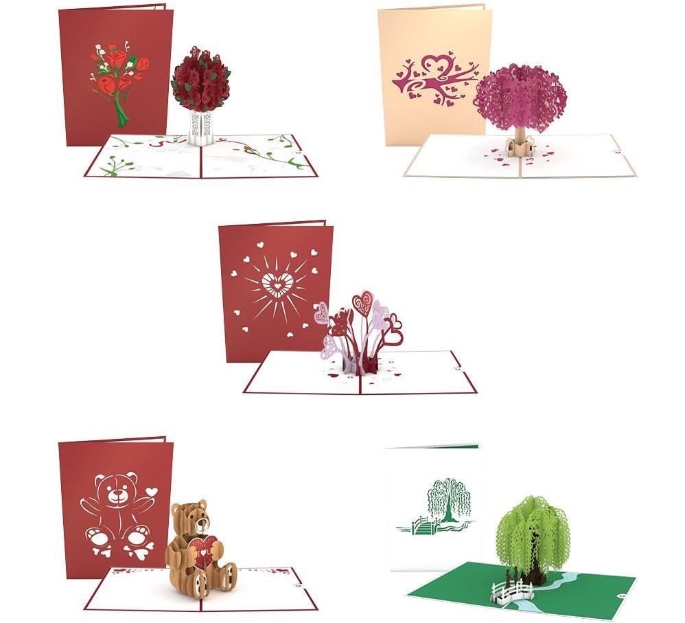 five Lovepop cards
