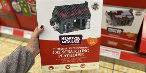 Keep Your Kitty Feline Festive With These Holiday Cat Scratching Playhouses – Only $7.99 at ALDI