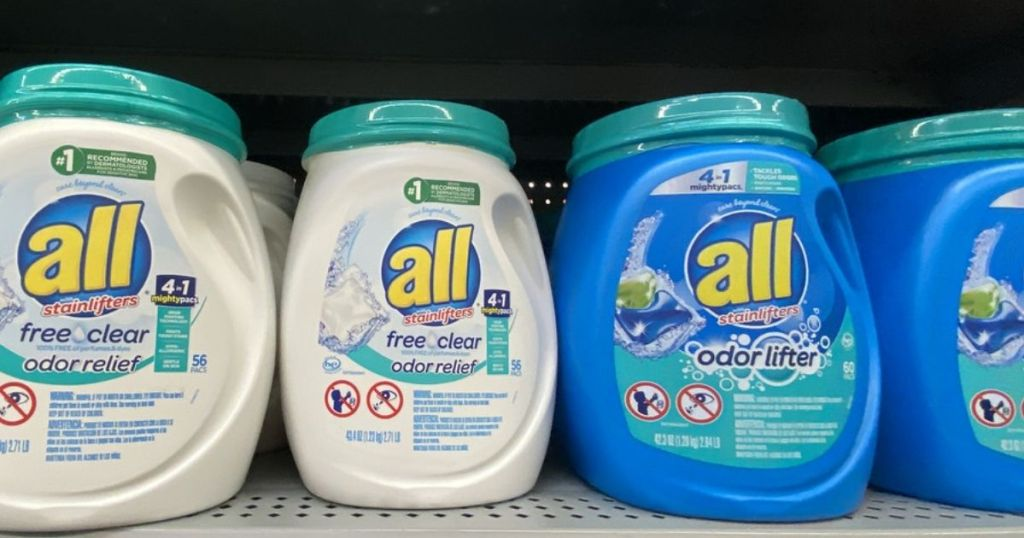 Tubs of All Mightypacs Laundry Detergent