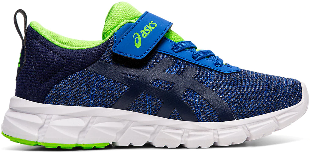 green, blue and white running shoe
