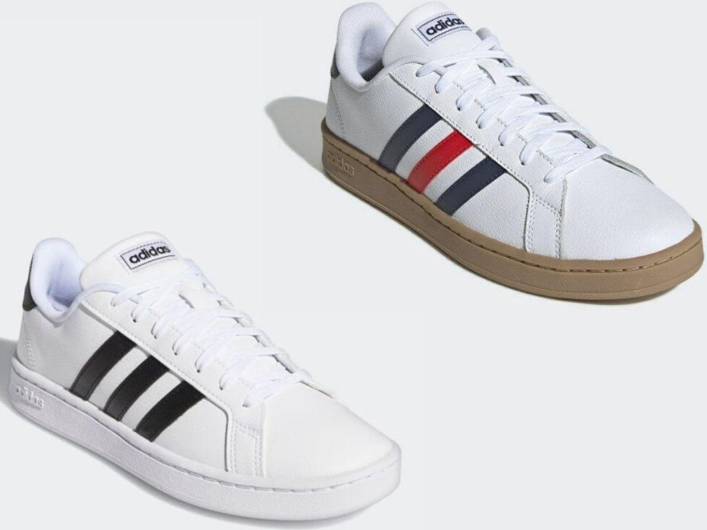 Dua sepatu kets gaya klasik dewasa Adidas