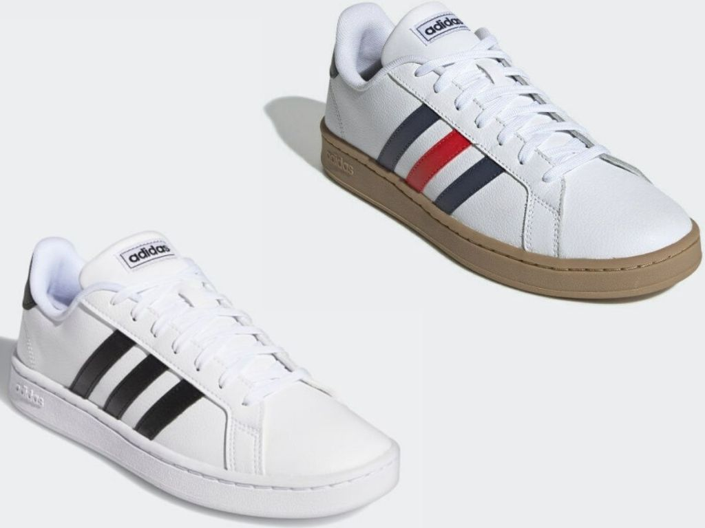 Two Adidas adult classic style sneakers