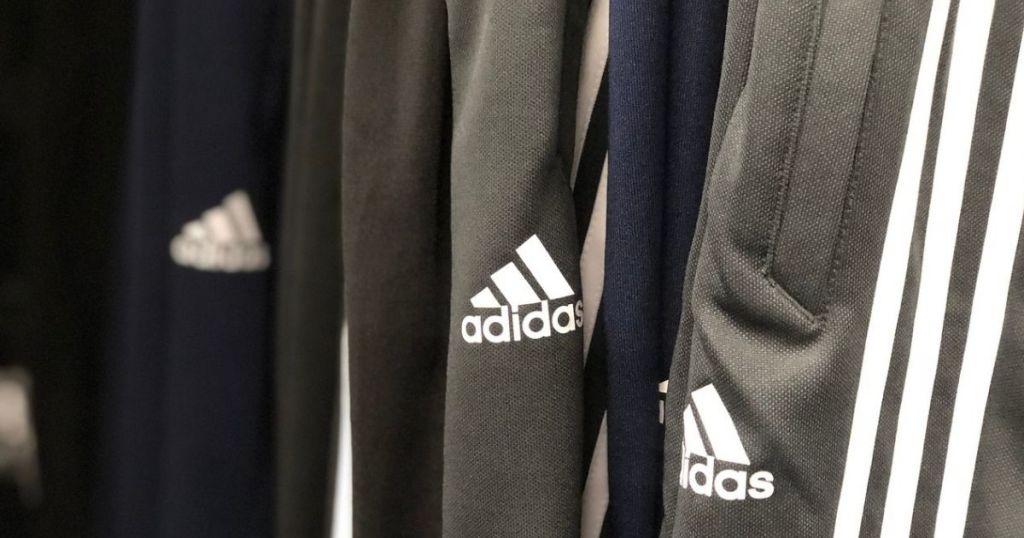 Adidas Pants hanging up