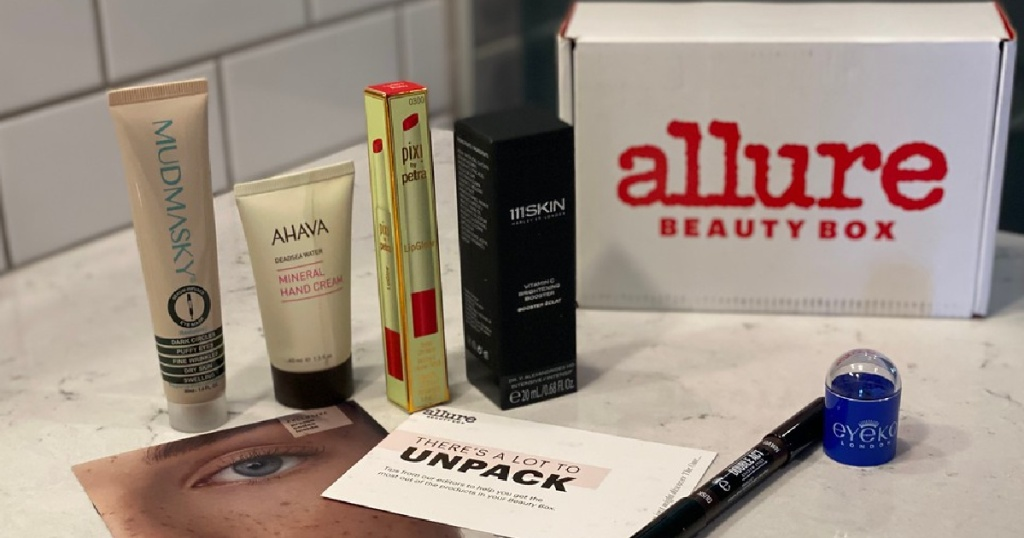 Allure beauty box with full sized products in it