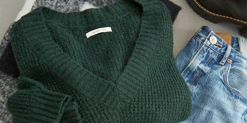 American Eagle Women's Sweaters Just $17.99 (Regularly $50) + Free $5 Reward w/ Store Pickup