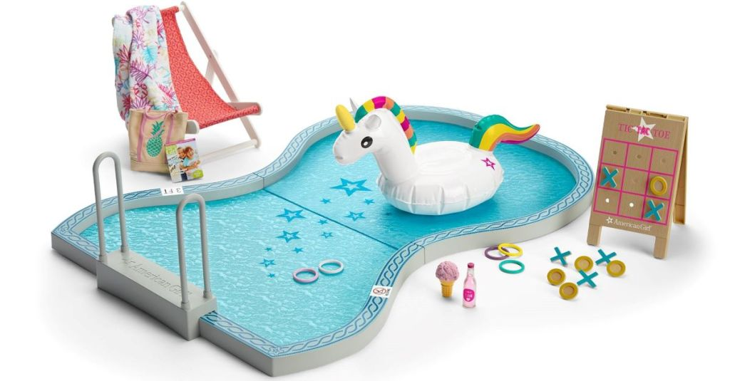 American Girl Swimming Pool with accessories