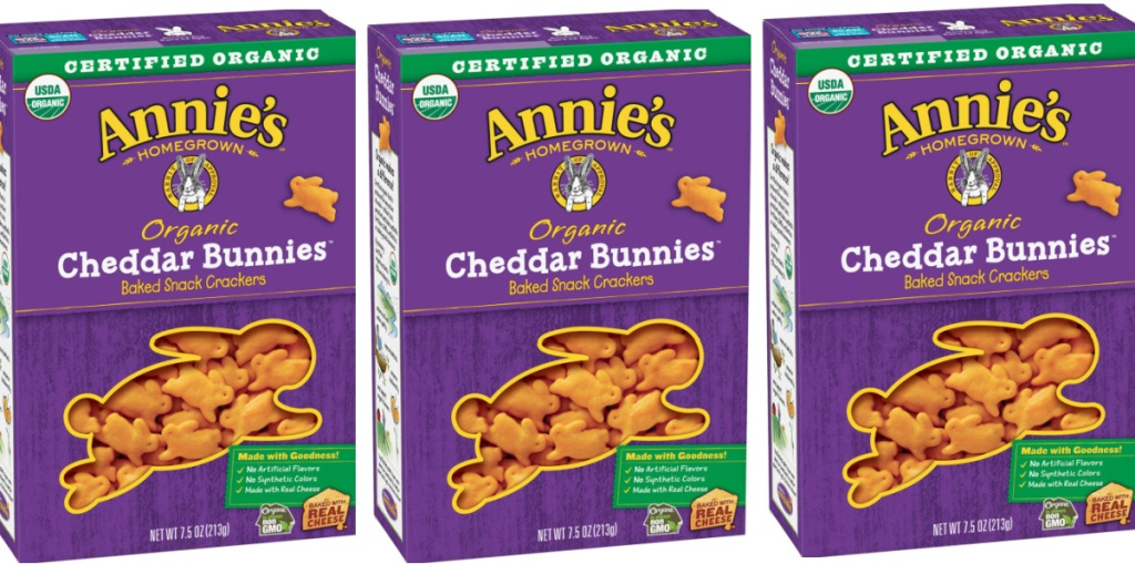 3 boxes of annie's cheddar bunnies