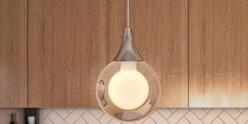 Globe Pendant Light Only $19.97 on HomeDepot.com (Regularly $45)   Up to 60% Off Fans & Lighting