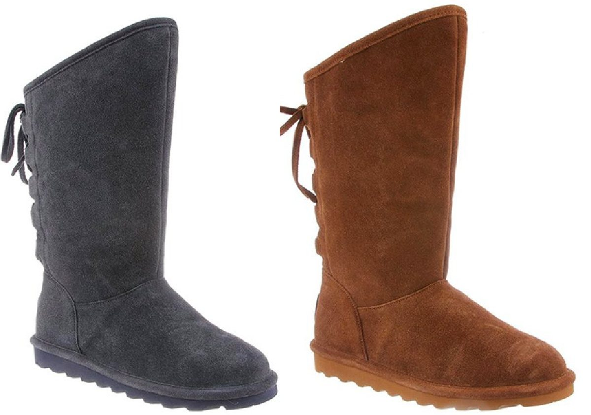 womens gray boot and womens light brown boot