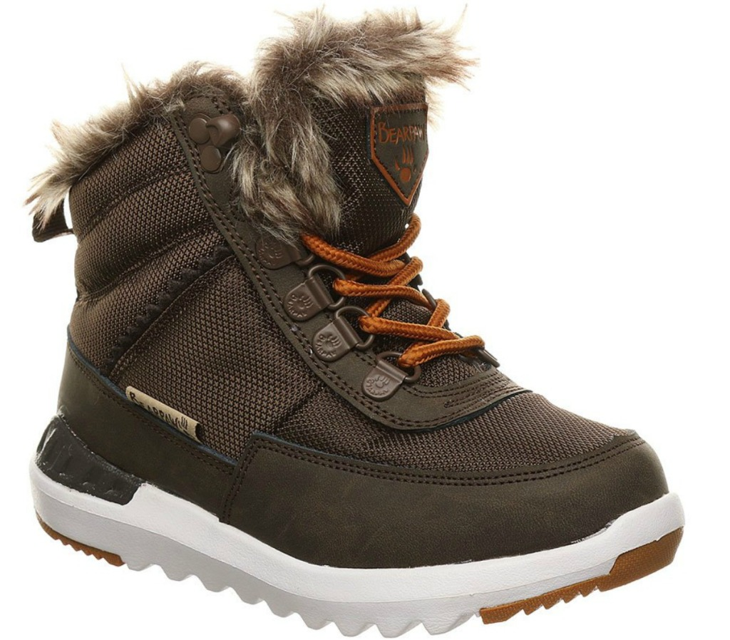 Fur lined kids winter boot