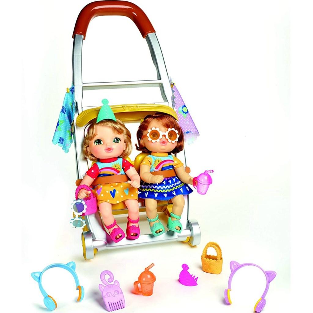 Baby Alive Littles, Shop'N Stroll Twins dengan aksesorisnya