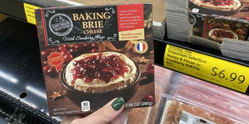 Baking Brie Cheese w/ Cranberry Glaze Just $6.99 at ALDI | Includes Reusable Ceramic Dish
