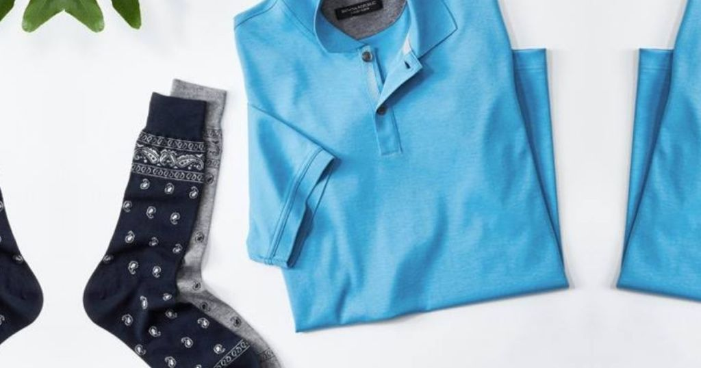 Banana Republic Socks and Polo Shirt