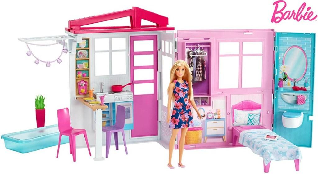 Large Barbie playset on display