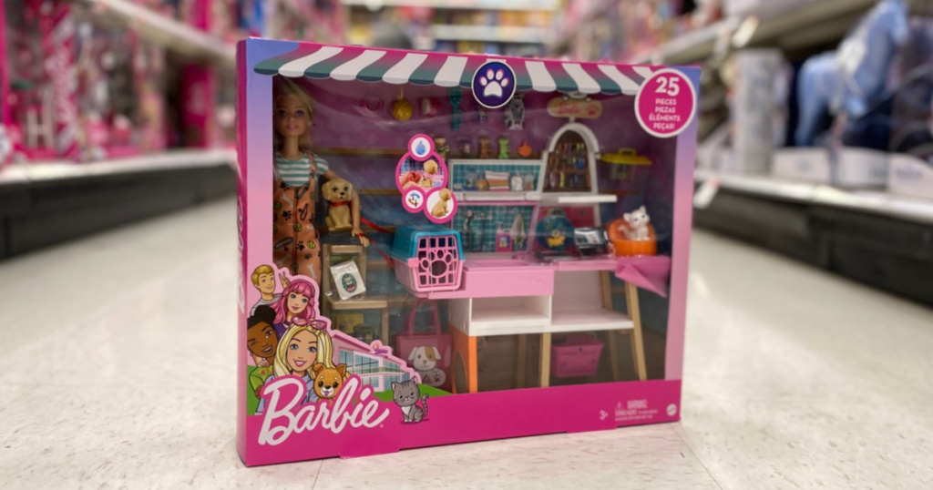 barbie toy in aisle