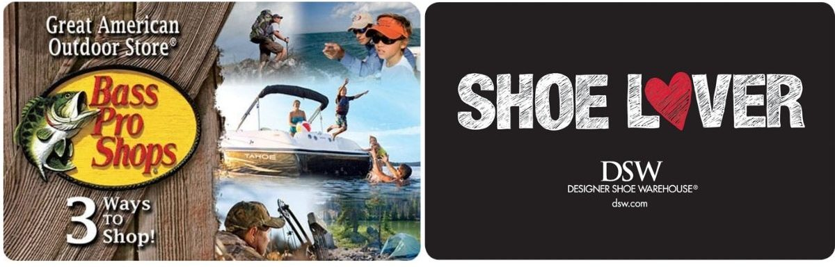 Bass Pro Shops & DWS Gift Cards