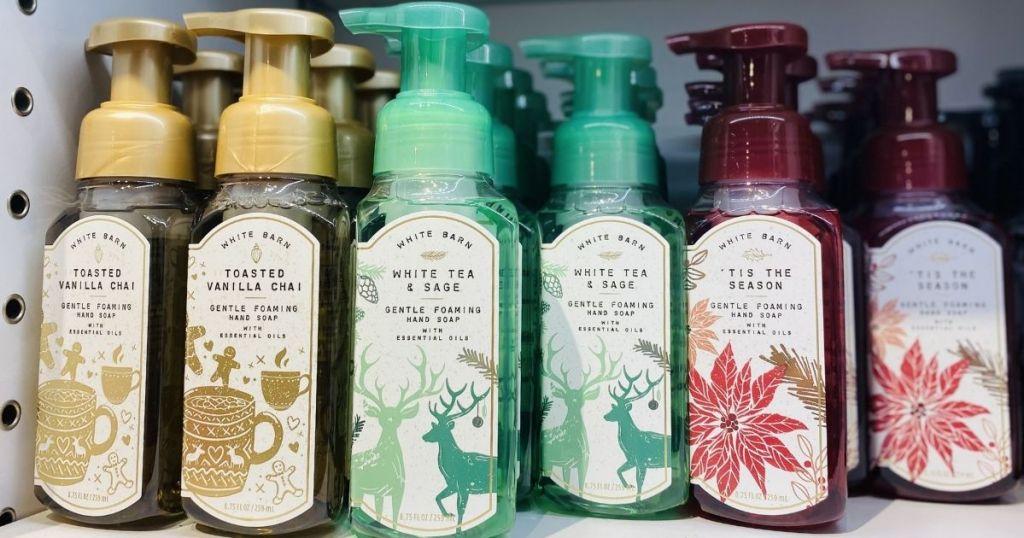 Bath & Body Works Hand Soaps display