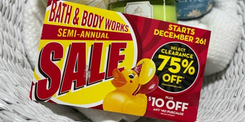 Bath & Body Works Semi-Annual Sale Ends Soon! | 3-Wick Candles Just $12, Lotion From $3