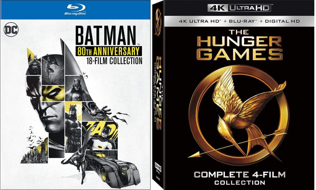Batman & The Hunger Games movie collections